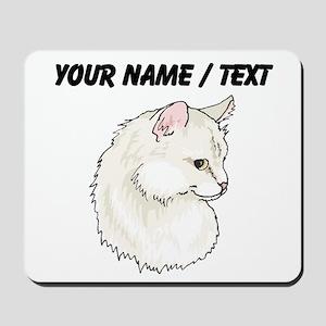 Custom White Cat Mousepad