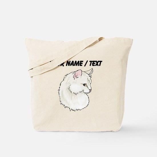 Custom White Cat Tote Bag