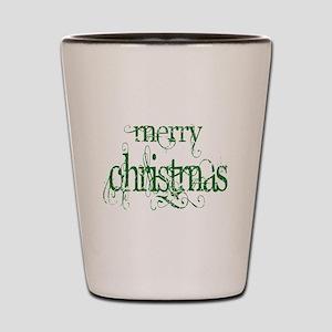 Merr Christmas Shot Glass