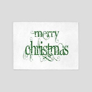 Merr Christmas 5'x7'Area Rug