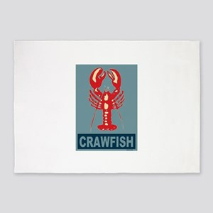 Crawfish in Blue 5'x7'Area Rug
