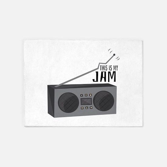 My Jam 5'x7'Area Rug