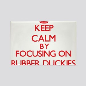 Keep Calm by focusing on Rubber Duckies Magnets
