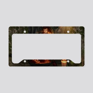 Beuatiful witch License Plate Holder