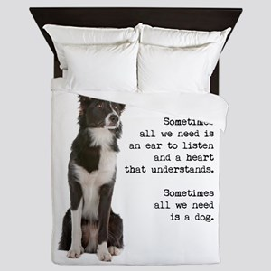 Border Collie Queen Duvet