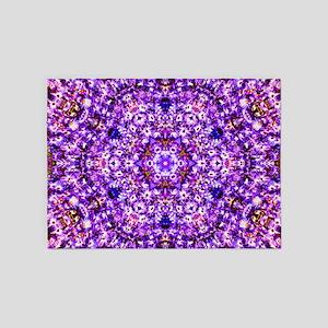 Purple Patterrn 5'x7'Area Rug