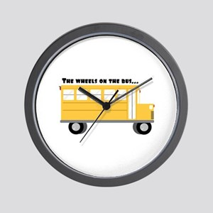 Wheels On Bus Wall Clock