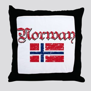 Norwegian Flag Throw Pillow