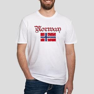 Norwegian Flag Fitted T-Shirt