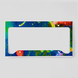 Blue Fish License Plate Holder