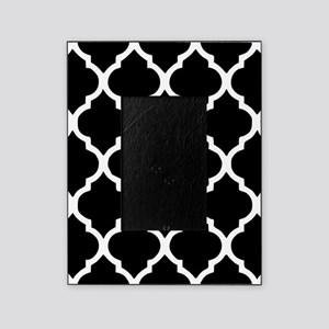 Quatrefoil Black and White Picture Frame