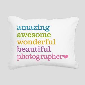 Awesome Photographer Rectangular Canvas Pillow