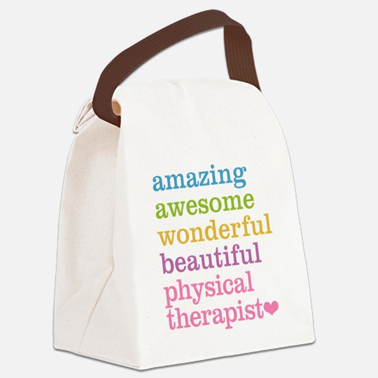 Physical Therapist Canvas Lunch Bag