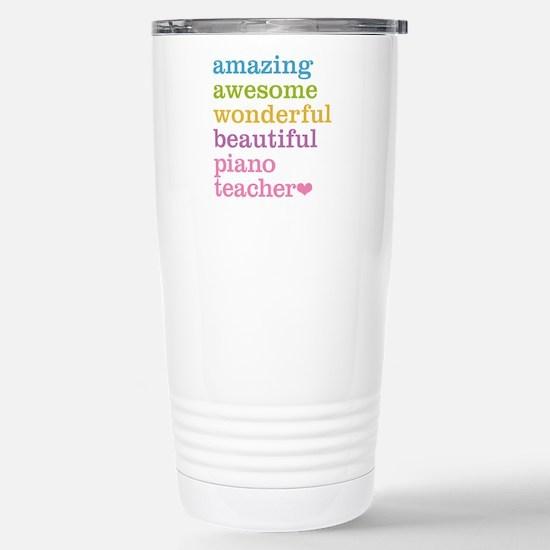 Piano Teacher Stainless Steel Travel Mug