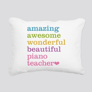 Piano Teacher Rectangular Canvas Pillow