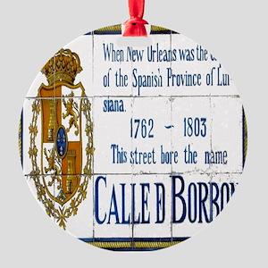 Bourbon Street Tiles Round Ornament