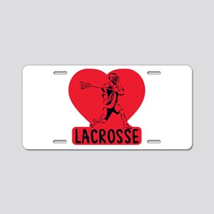 Love Lacrosse Aluminum License Plate