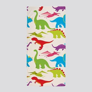 Cool Colorful Kids Dinosaur Pattern Beach Towel