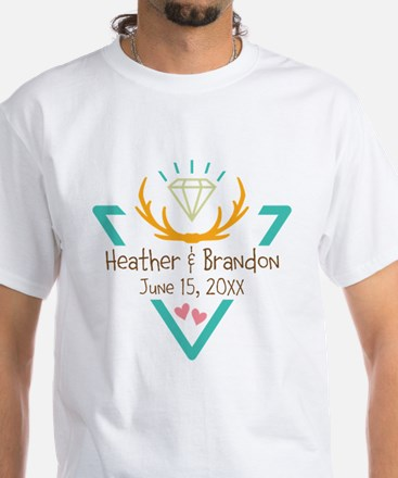 Hipster Wedding or Engagement Gift T-Shirt