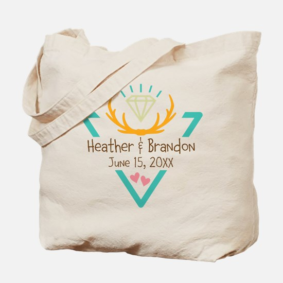 Hipster Wedding or Engagement Gift Tote Bag