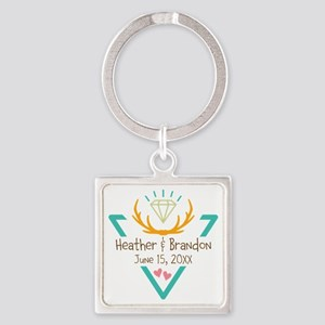 Hipster Wedding or Engagement Gift Keychains