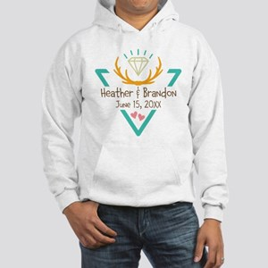 Hipster Wedding or Engagement Gift Hoodie