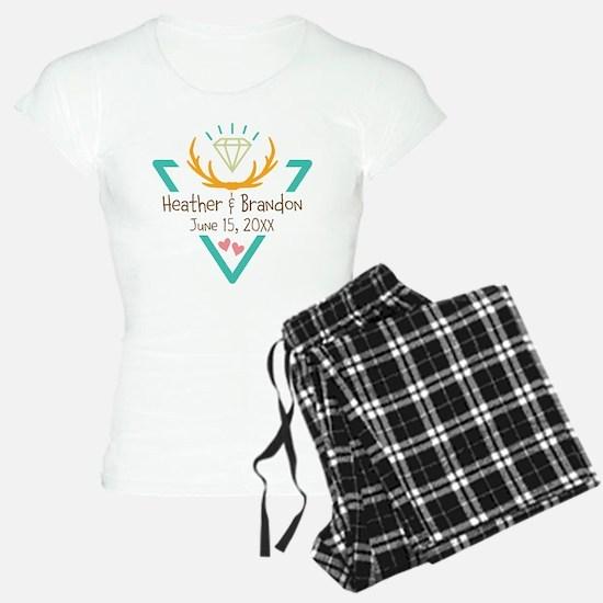 Hipster Wedding or Engagement Gift Pajamas