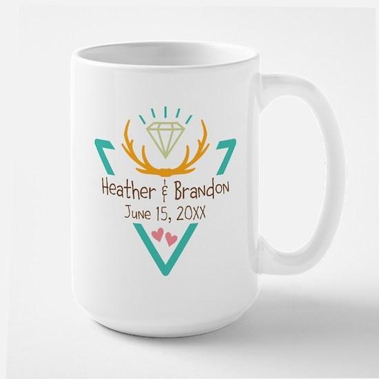 Hipster Wedding or Engagement Gift Mugs