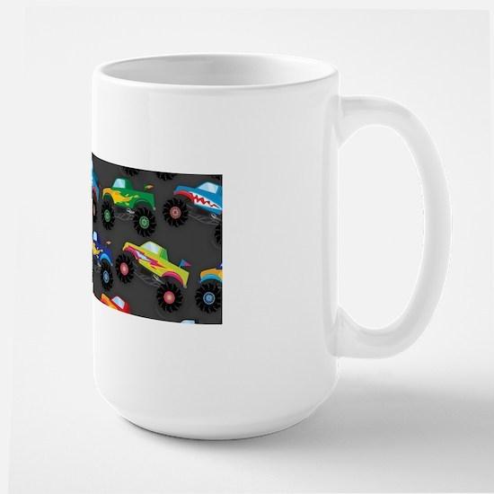 Cool Monster Trucks Pattern, Colorful Kids Mugs