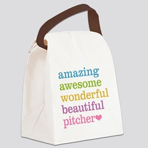 Awesome Pitcher Canvas Lunch Bag