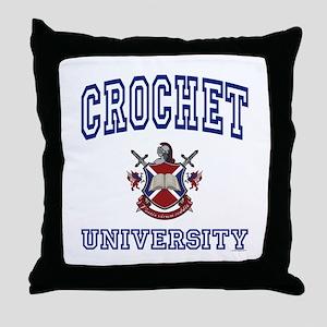 CROCHET University Throw Pillow