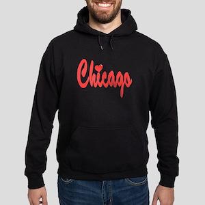 Chicago Heart Hoodie (dark)