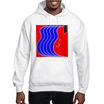 Red & Blue Hooded Sweatshirt