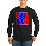 Red & Blue Long Sleeve Dark T-Shirt