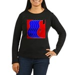 Red & Blue Women's Long Sleeve Dark T-Shirt