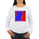 Red & Blue Women's Long Sleeve T-Shirt
