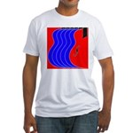 Red & Blue Fitted T-Shirt