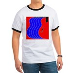 Red & Blue Ringer T
