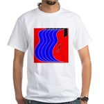 Red & Blue White T-Shirt