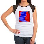 Red & Blue Women's Cap Sleeve T-Shirt