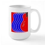 Red & Blue Large Mug