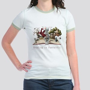 Reading is Fantastic II Jr. Ringer T-Shirt