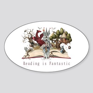 Reading is Fantastic II Sticker (Oval)