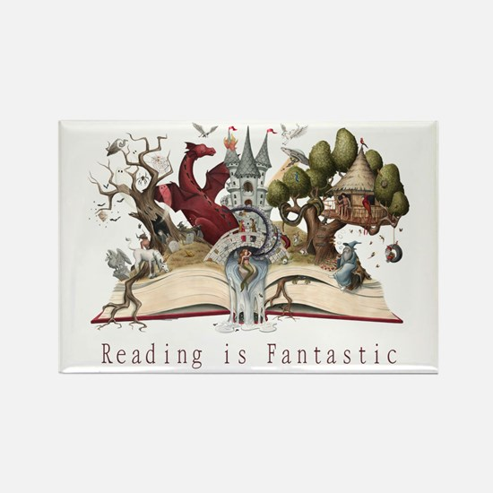Reading is Fantastic II Rectangle Magnet