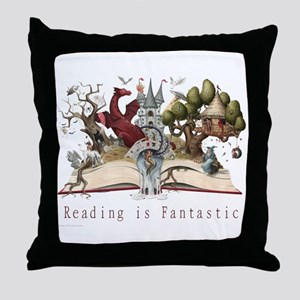 Reading is Fantastic II Throw Pillow