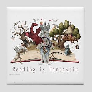 Reading is Fantastic II Tile Coaster