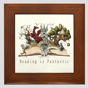 Reading is Fantastic II Framed Tile
