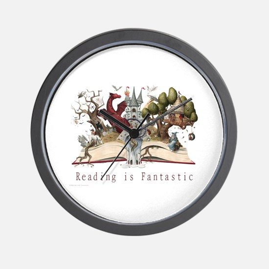 Reading is Fantastic II Wall Clock