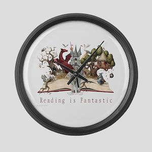 Reading is Fantastic II Large Wall Clock