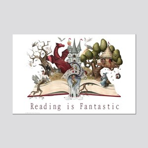 Reading is Fantastic II Mini Poster Print